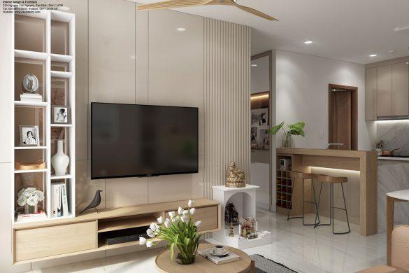 Nội thất phòng khách căn hộ chung cư Kingdom