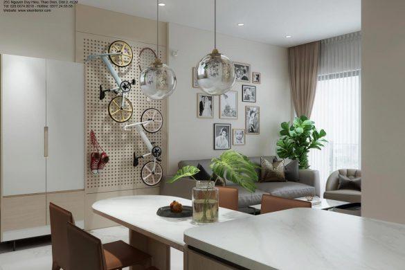 Thiết kế căn hộ chung cư Safira