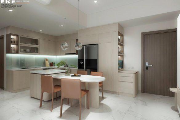 Thiết kế căn hộ chung cư Safira-phòng ăn bếp