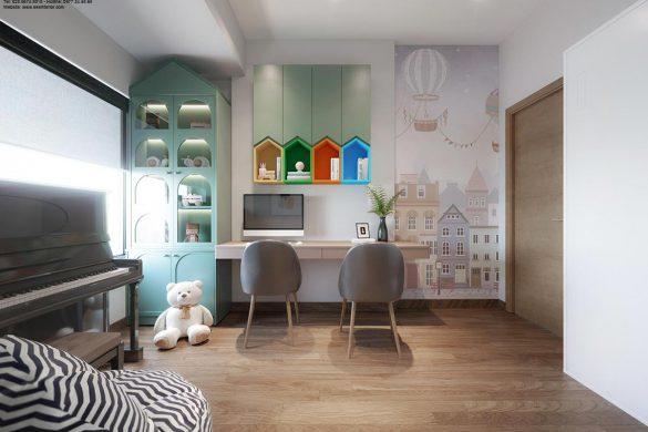 Thiết kế căn hộ chung cư Safira-phòng học