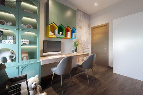 Thiết kế căn hộ chung cư Safira-phòng học 2