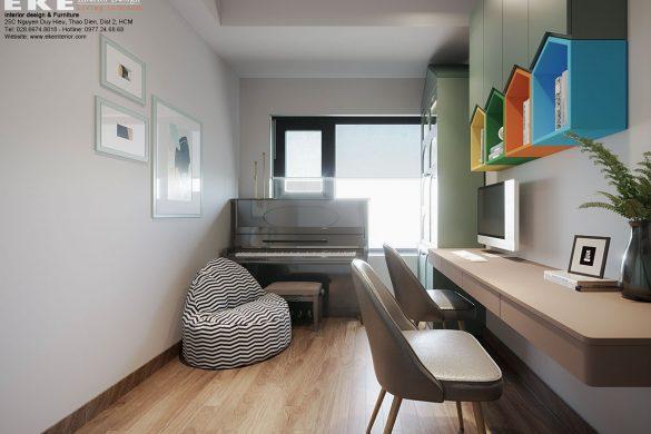 Thiết kế nội thất phòng học chung cư Safira Khang Điền