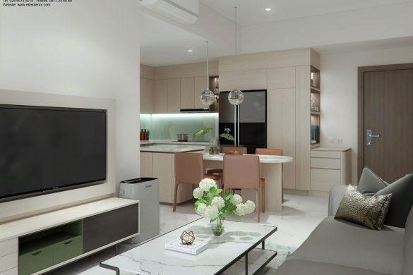 Thiết kế nội thất căn hộ chung cư Safira