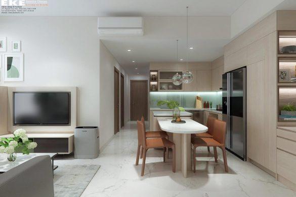 Phòng ăn bếp căn hộ chung cư Safira