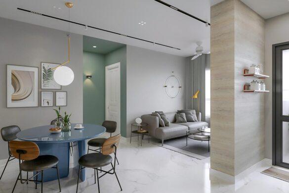 Thiết kế nội thất căn hộ 2 phòng ngủ idico
